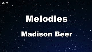 Melodies - Madison Beer Karaoke 【No Guide Melody】 Instrumental