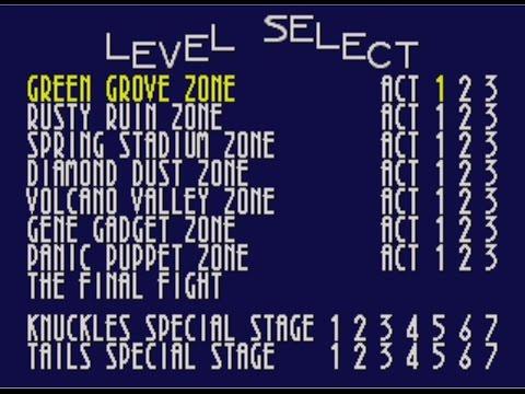 Sonic 3D Blast Level Select Code (Genesis)