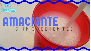 Amaciante Dove com 3 Ingredientes fácil