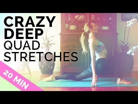 Yoga Stretches for Quads and Hamstrings (20-min) Quad Stretch Yoga