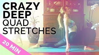 Yoga Stretches for Quads and Hamstrings (20-min) -  Quad Stretch Yoga