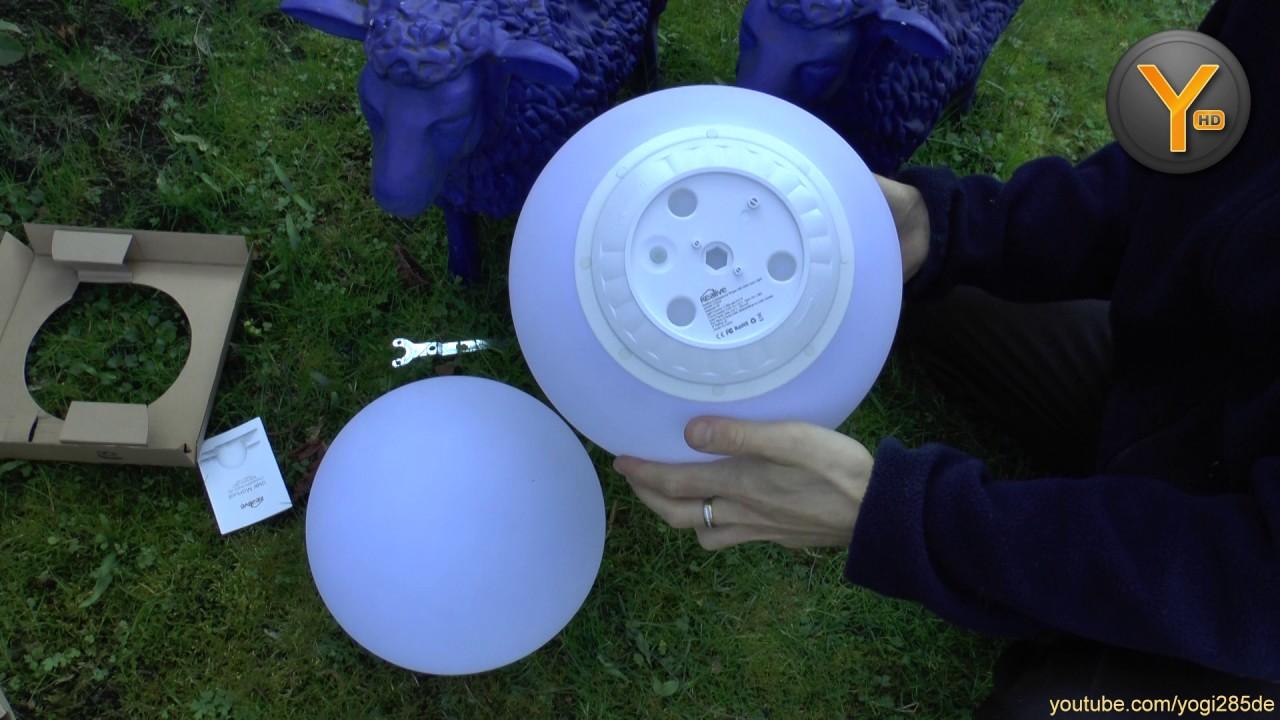 Kurztest Kealive Solar Led Kugel Lampe Für Garten Outdoor Youtube