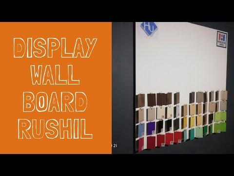 Display Wall board DIY - Rushil Decor limited Laminates Formica samples ( tagalog) filipino