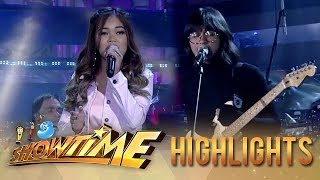 Janine and Unique in a powerful opening performance at It's Showtime stage   It's Showtime