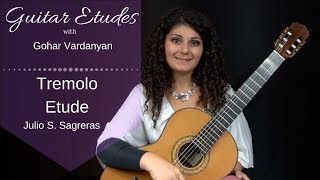 Leccion 4 (Tremolo Etude) by Julio S. Sagreras | Guitar Etudes with Gohar Vardanyan