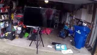 DJ or VJ DIY LED TV Tripod Stand
