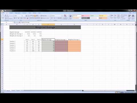 Excel - Weighted Average