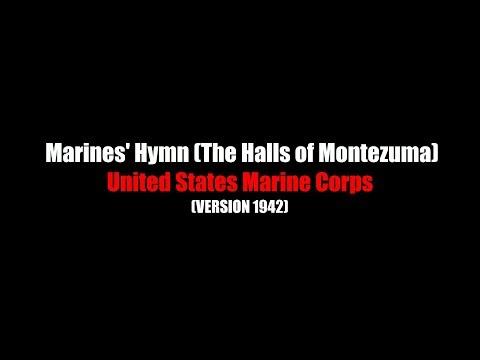 Marines' Hymn (halls Of Montezuma) | LYRICS | United States Marine Corps | 1942