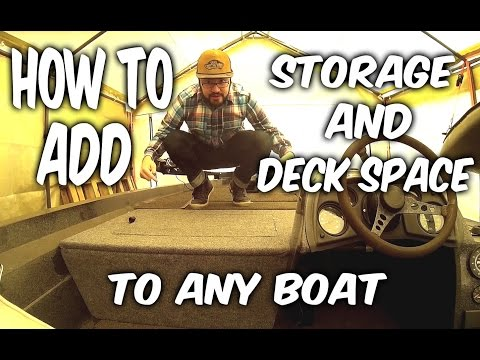 How to: Add storage to your boat. A step by step guide.