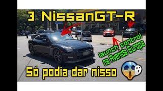 Você nuca viu um Nissan GT-R Acelerando assim na Avenida Europa