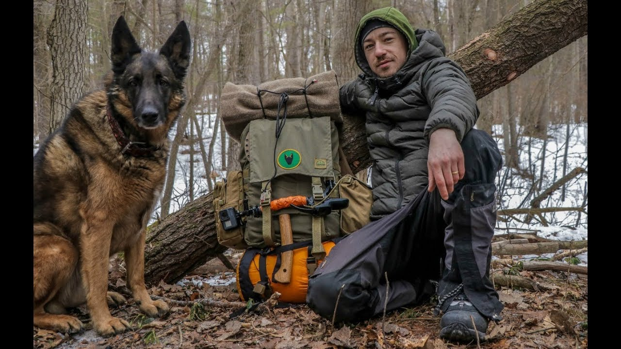Bushcraft Gear For a Winter Overnight Camp With my Dog ...