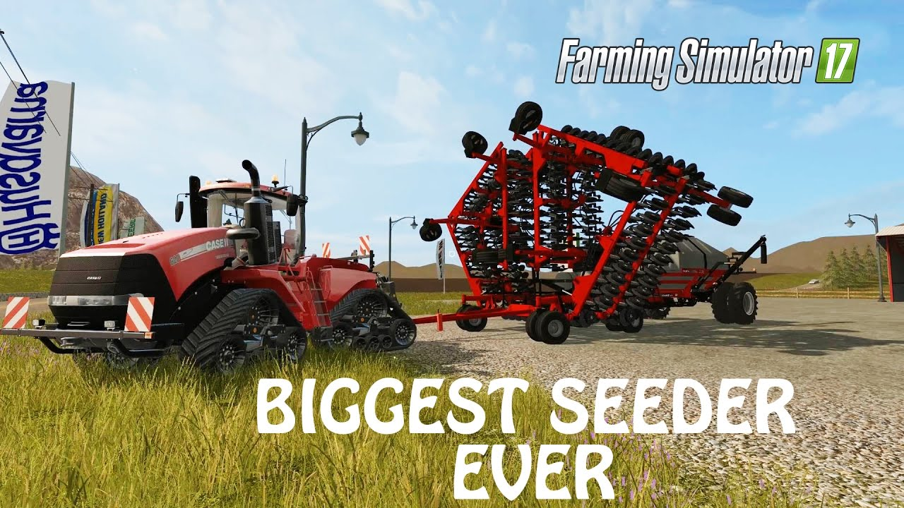 THE WORLDS BIGGEST SEEDER in Farming Simulator 2017 NEW