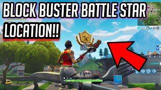 * FREE * local Battle Star secreto! Semana 6 Blockbuster desafio-Fortnite: Battle Royale!