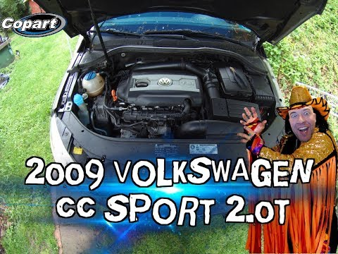 Working on the Copart 2009 Volkswagen CC Sport