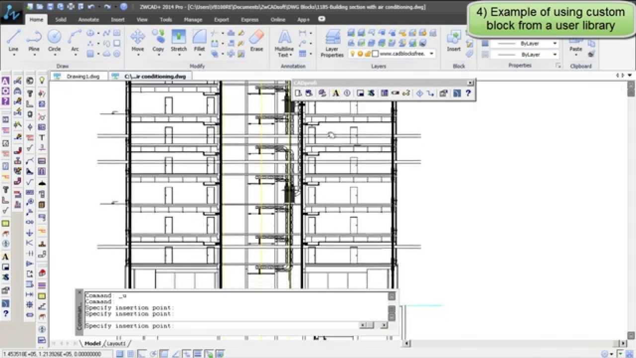 CADprofi: Add user made custom object to library - YouTube