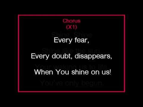 Shine on us - worship karaoke/backing track and lyrics. Bethel Music