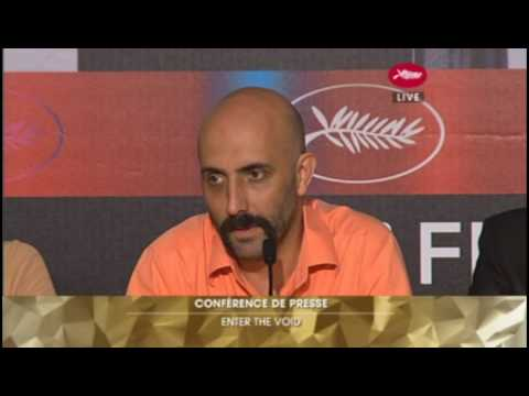 Enter the Void Press Conference - Cannes 2009 (1 of 4)