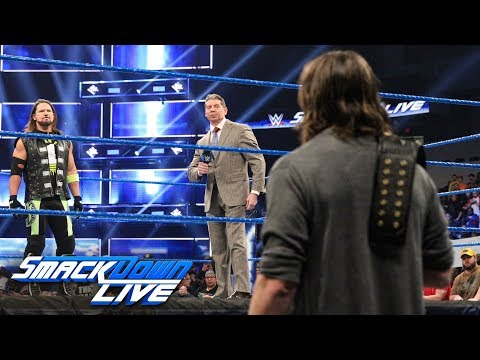 Mr. McMahon hosts a chaotic face-to-face between Styles & Bryan: SmackDown LIVE, Jan. 22, 2019