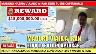 Maduro viaja a Iran en secreto EEUU podra capturarlo
