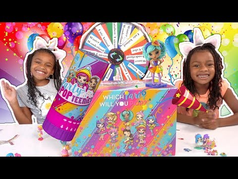 3 Marker Shoe Challenge with Party Popteenies! Fun Sisters Play