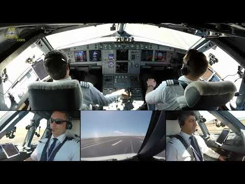 CRM as it should be! Ismet and Tim softly landing their Airbus A320 in Tenerife South!!! [AirClips]
