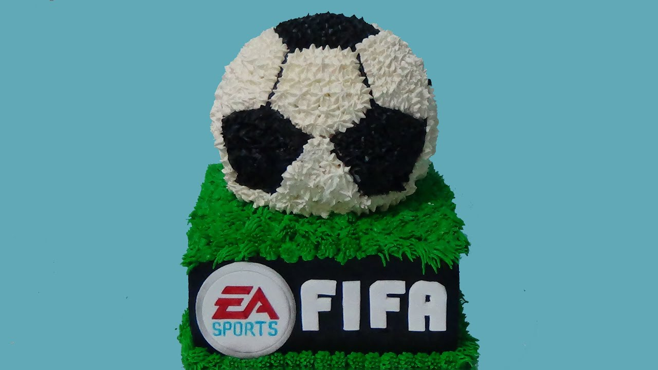 How To Make Fifa Soccer Birthday Cake Youtube