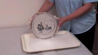 Perth Mint Strikes 10 Kilo Silver Bullion Coin Video