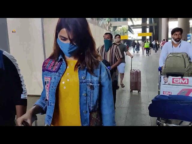 Samantha Akkineni Spotted At Airport