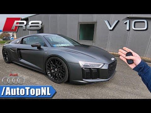 Audi R8 V10 PLUS POV 320km/h REVIEW on AUTOBAHN by AutoTopNL