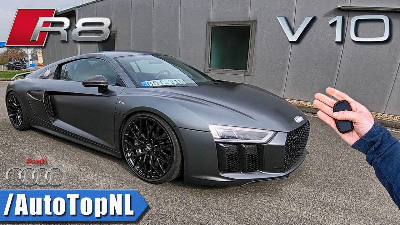 Audi R8 V10 Plus Pov 320km H Review On Autobahn By Autotopnl Youtube