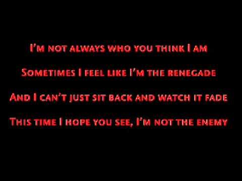 Manafest - Renegade (W/ Lyrics)