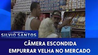 Empurrar Velha No Mercado | Câmeras Escondidas  01/07/20