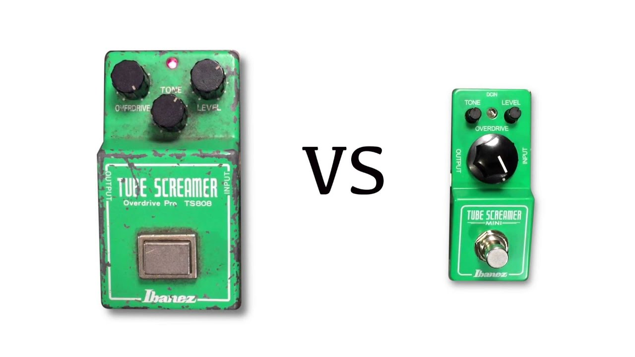 vintage ts808 vs tube screamer mini youtube