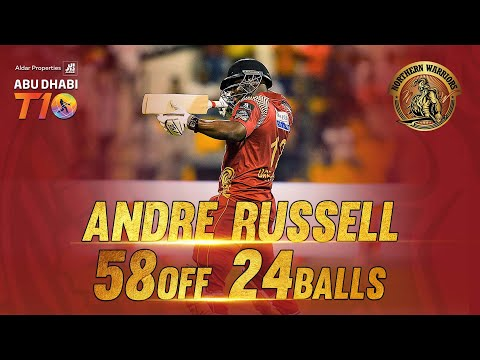 Andre Russell I 58 runs 24 balls I  2/12 I Man of the Match I Match 1 I Northern Warriors I Season 3