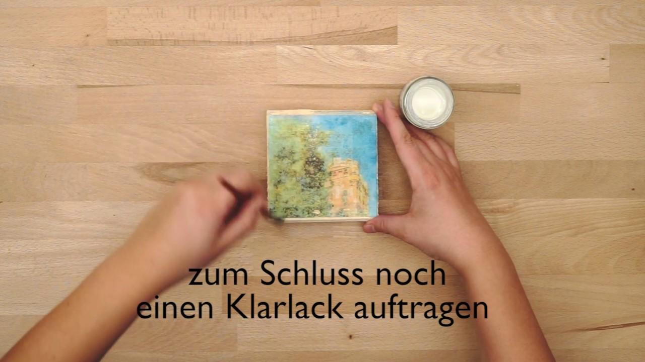 Fotos Auf Holz Drucken Diy Youtube