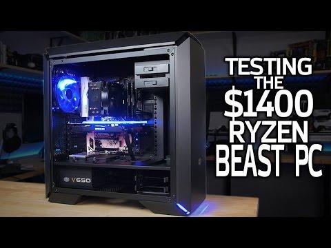 HOW FAST is My $1400 Ryzen 1700 Build?
