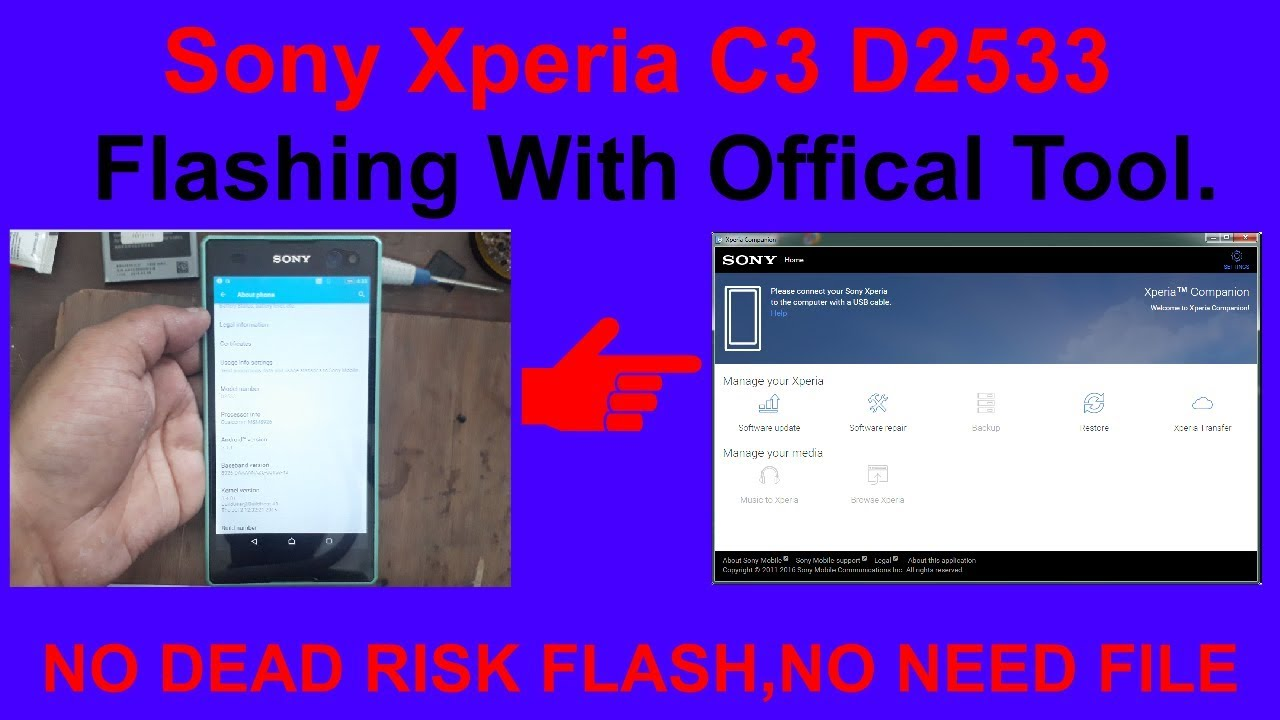 Sony Xperia C3 D2533 Flashing With Offical Tool