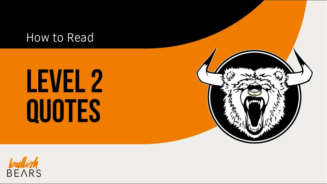 Level 2 Stock Quotes Beauteous Level 2 Quotes  Understanding Level 2 Stock Quotes Real Time