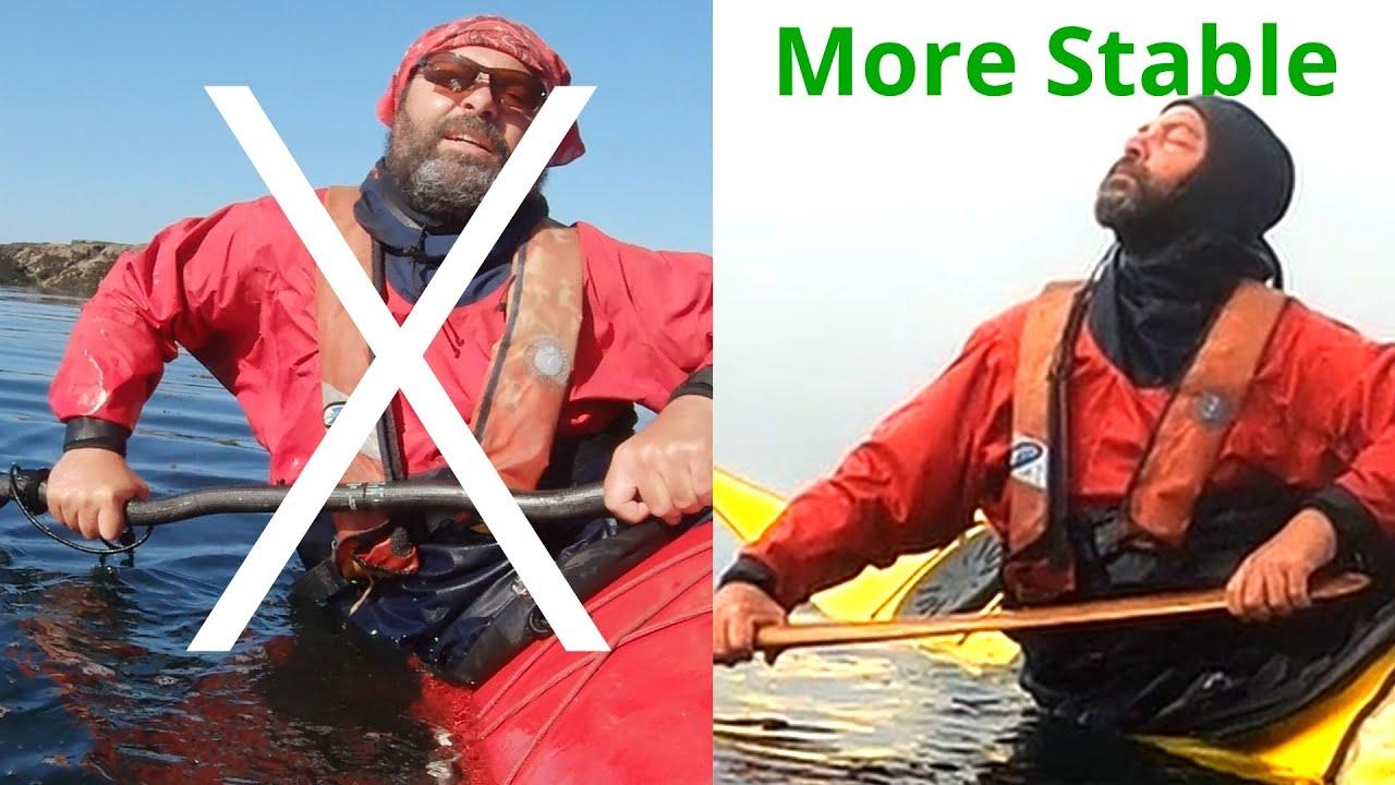 Sea kayak capsize | Most secure sea kayak position