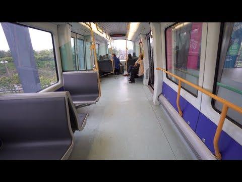 Denmark, Metro ride from Copenhagen Airport to Kastrup, 2X elevator, 1X escalator