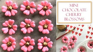 How to Make Mini Chocolate Cherry Blossom Flowers   Simple & Easy