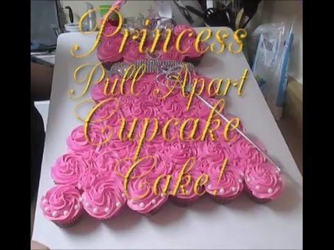 Princess Pull Apart Cupcake Cake YouTube