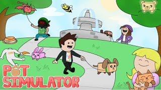 Playing Roblox-Pet Simulator