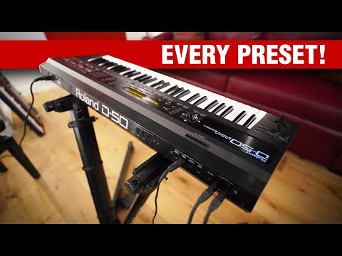 Roland D-50 Synthesizer: Every Preset!