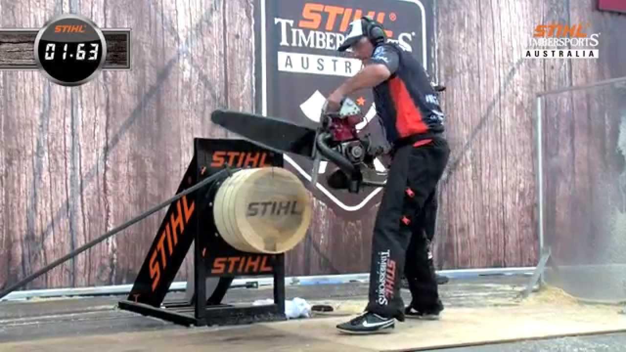 2015 STIHL Timbersports Hot Saw Australian Record
