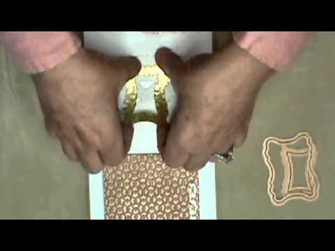 Spellbinders® Media Mixáge™  Monday - How to create textures on brass blanks - Vintage pendant