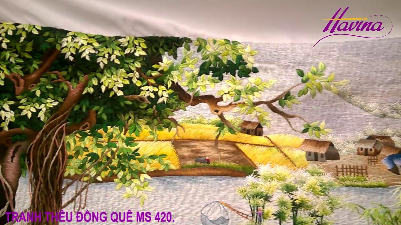 Tranh Thêu Đồng Quê – Tranh Thêu Phong Cảnh Đồng Quê Ms 420  – Tranh Thêu Havina