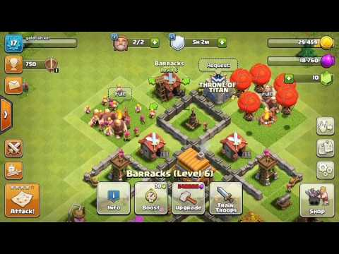 Attacking Gobbotown in Clash of Clans !!!