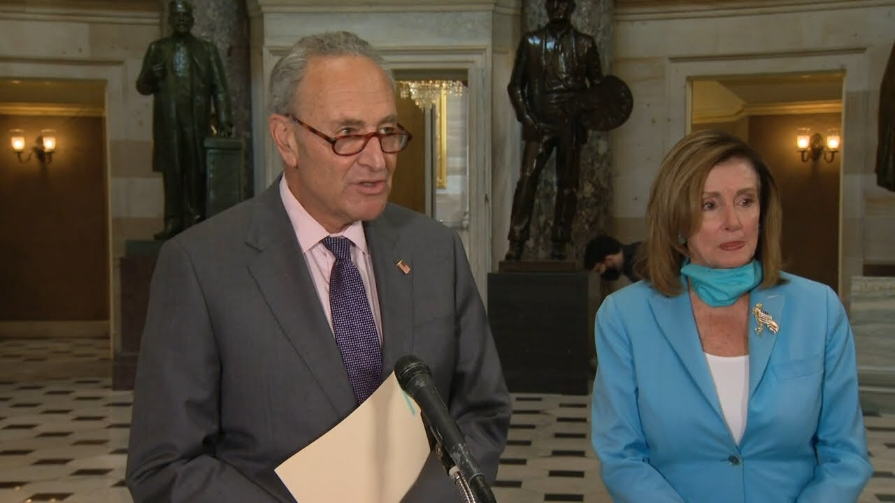 White House : Pelosi and Schumer continue negotiations on covid 19 relief bill .