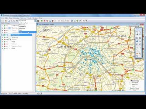 Maptitude 2018 density maps, hot spot maps, heat maps